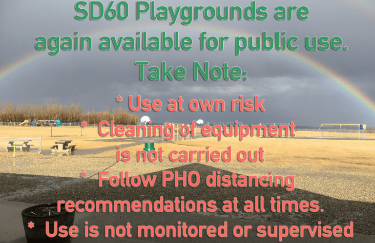 While school is in session members of the public are asked not to use the playgrounds.